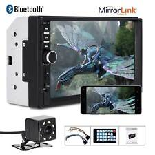 """7"""" 2 DIN Car MP5 Player Stereo FM Radio Bluetooth USB AUX TF Touch Screen Camera"""