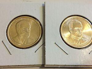 LBJ D/&P Eisen 2015 Presidential Gold $1 Dollar Set Kennedy 8 Coins: Truman