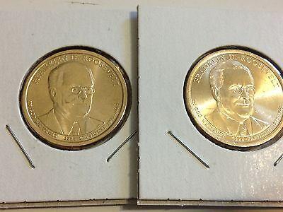 2016 P/&D Ronald  Reagan Presidential Golden Dollars Best Price PD 2 Coins 16PU