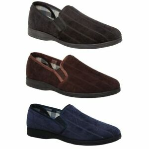 BLAKE-Mens-Grosby-Black-Navy-Brown-Slipper-Scuffs-Slip-On-Slippers-8-9-10-11-12