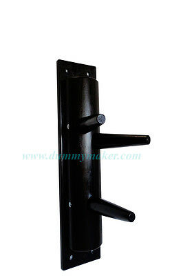 Boxing, Martial Arts & Mma Wing Chun Semicircular Wooden Dummy Without Leg Black Color