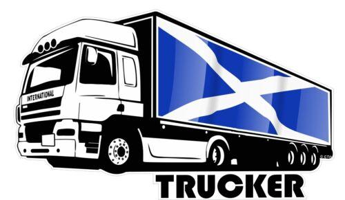 International Trucker Lorry Scottish Saltire Scotland Flag car truck sticker