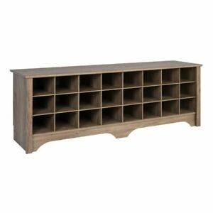 Prepac 60 Shoe Cubby Bench In Drifted