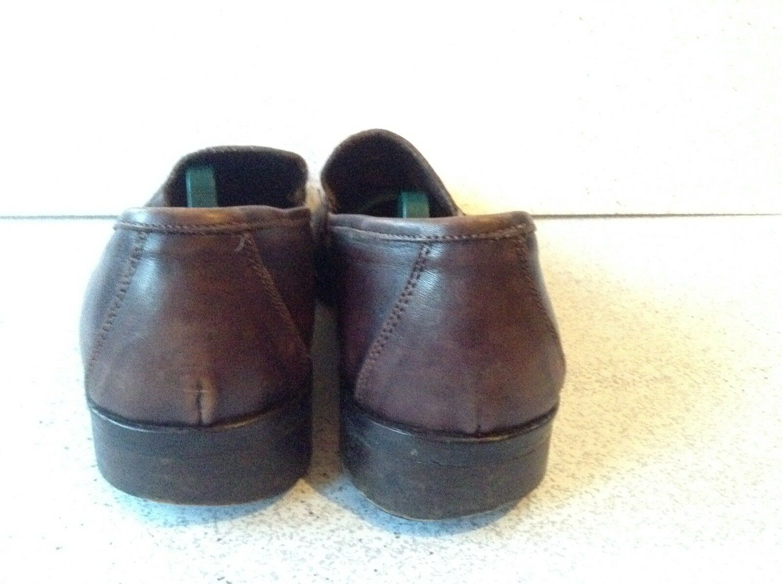To Boot New York Size 12 Dark Brown Leather Leather Leather Full Strap Dressy Loafers  3d02c4