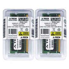 16GB KIT 2 x 8GB Toshiba Satellite C850-1G3 C850-1KZ C850-B519 Ram Memory