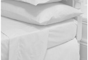 Single-Double-King-Size-Super-Kingsize-Flat-Bed-Sheet-Rich-Egyptian-Cotton-Linen