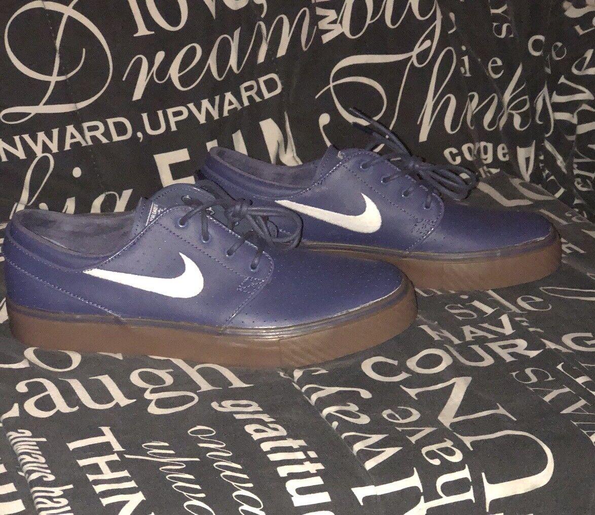 614aabe3b53a NEW Nike Zoom Stefan Janoski Janoski Janoski Mens Sz 8 Shoes Blue Recall  White 333824 415 b2a906