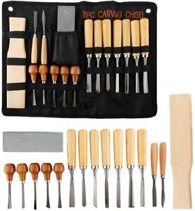 16PCS Wood Carving Tools Professional Woodworking Hand Chisel Tool Kit Set
