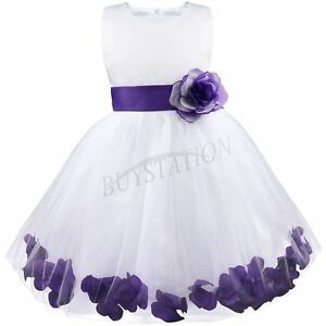 Flower-Girls-Bridesmaid-Dress-Wedding-Party-Princess-Christening-Pageant-Formal