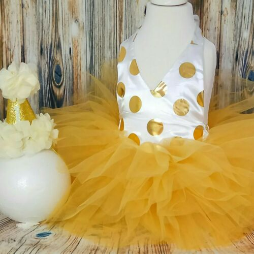 baby girl first 1st birthday outfit tutu cake smash photo shoot party dress hat