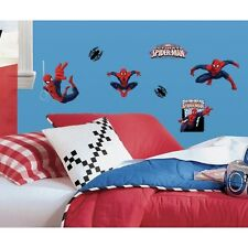 22 ULTIMATE SPIDER MAN Peel & Stick Wall Decals Boys Room Decor Marvel Stickers