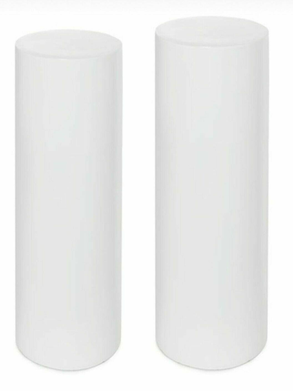 2 Weiß Acrylic Display Stands Exhibition Riser Flower Pedestals Wedding Plinths