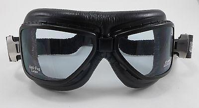 Emgo Roadhawk Goggles Like Italian Leather Riding Cruising Piolet Helmet Harley