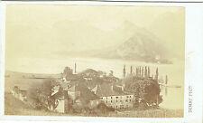 Photo cdv : Demay ; Autour du lac du Bourget , vers 1875