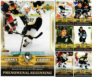 100-UPPER-DECK-2005-SIDNEY-CROSBY-ROOKIE-YEAR-LOT-U-PICK-FROM-LIST-WHOLESALE