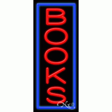 Brand New Books 32x13 Vertical Border Real Neon Sign Withcustom Options 11521