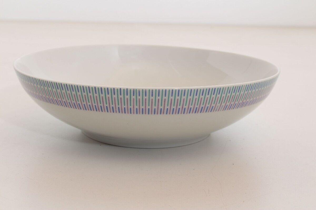 BOL Bol de salade ARZBERG 203 forme 2000 raphia bleu porcelaine