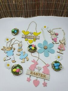 In-Legno-da-Appendere-Pasqua-Decorazione-Albero-Taglio-Laser-uovo-conigli-coniglio-carino-Craft