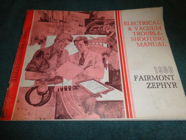 1980 Ford Fairmont    Mercury Zephyr    Wiring  U0026 Vacuum