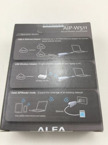 5-in-1 USB wireless AP ALFA AIP-W511 802.11n 5-IN-1 Travelling Router Adapter