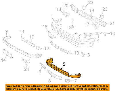 Mercedes MERCEDES-BENZ OEM 00-03 CLK320-Nose Panel-Valance Panel 2088850725