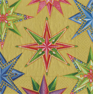 Gold-Jeweled-stars-Christmas-Caspari-paper-table-napkins-20-pack-33-cm-sq-3-ply