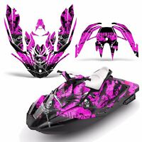 Decal Graphic Kit Wrap Jetski Rotax Bombardier Sea-doo 3up Spark 2015+ Reap Pink