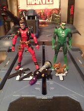 "Marvel Universe Custom Deadpool Ryan Reynolds Green Lantern Rare 3.75"""