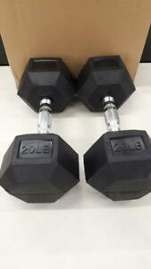 HEX RUBBER COATED DUMBBELL (15,20,25,30,40 lbs) different sizes available City of Toronto Toronto (GTA) Preview