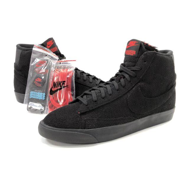 Size 11 - Nike Blazer Mid QS x Stranger Things Upside Down - Black ...