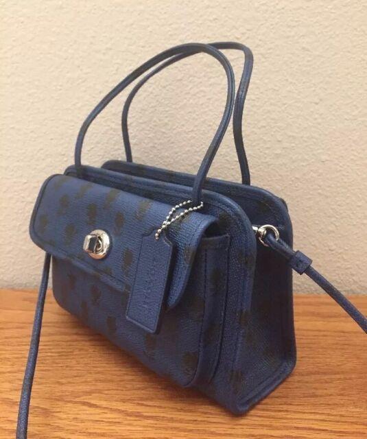 afb156c5b COACH CADY crossbody handbag in printed crossgrain leather F34471 Blue  Badlands
