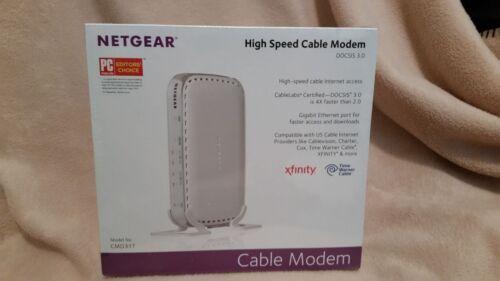 BRAND NEW NETGEAR DOCSIS 3.0 - High Speed Cable Modem CMD31T-100NAS