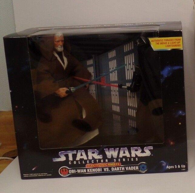 Star wars, obi - wan kenobi darth vader 12  electronic power f   x - kenner 1997