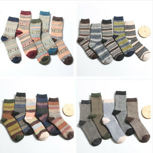 1Pair Men Retro Wool Cashmere Design Warm Soft Thick Casual Dress Winter Socks