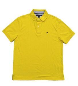 a95786f65 Tommy Hilfiger Men s Custom Fit Interlock Yellow Polo Shirt Size ...