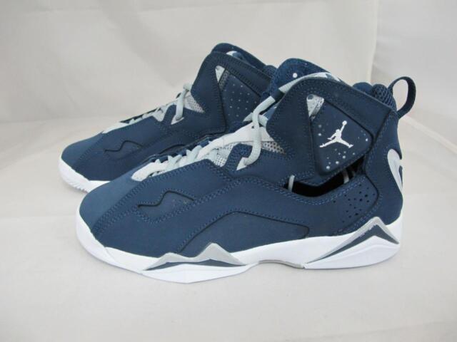 27035be5b21 Jordan Nike Kids True Flight BG Basketball Shoe Color Midnight Navy ...