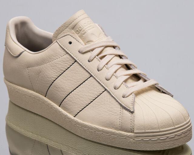 6ccb621644f74 adidas Originals Superstar 80s Men New Sneakers Mens Chalk White Shoes  B38000