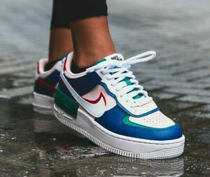 nike air force 1 shadow femme bleu