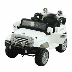 12V-Kids-Electric-Ride-On-Toy-Truck-Jeep-Car-2-Speeds-Lights-MP3-LCD-Indicator