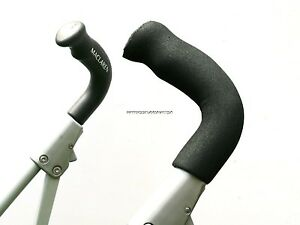 HANDLE-GRIP-FOR-MACLAREN-TECHNO-XLR-XT-CLASSIC-BLACK-FOAM-x2-PUSHCHAIR-STROLLER