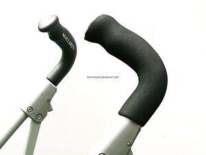 HANDLE GRIP FOR MACLAREN TECHNO XLR XT CLASSIC BLACK FOAM x2 PUSHCHAIR STROLLER