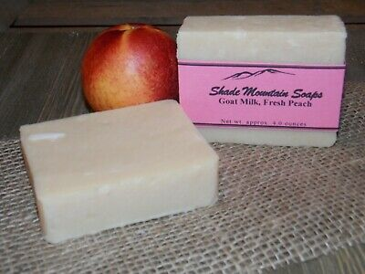 Homemade Goat's Milk Soap -Fresh Peach