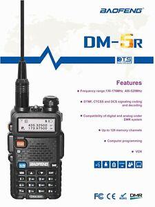Baofeng-DM-5R-DMR-Tier-II-Digital-Two-Way-Radio-VHFUHF-WalkieTalkie-2000mAh