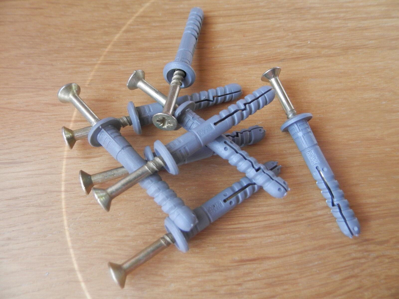 1600 Schlagdübel 6x60 Nageldübel gr.Kragen vormontiert