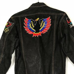 70baf6d6bc1 Vintage Denim Jacket Men's S M Embroidered Bird Patches Jean Levis ...