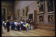 205036 Mona Lisa Viewers Louvre Museum A4 Photo Print