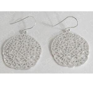 18K Gold 925 Sterling Silver Disc Circle Earrings Filigree Mandala Flower Star
