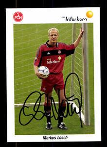 Sport Offen Markus Lösch Autogrammkarte 1 Fc Nürnberg 1999-00 Original Signiert+a 125266 Attraktives Aussehen