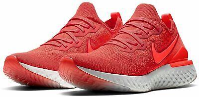 pensamientos sobre duradero en uso gama muy codiciada de Nike Epic React Flyknit 2 Running Shoes Chile Red BQ8928-601 Men's ...