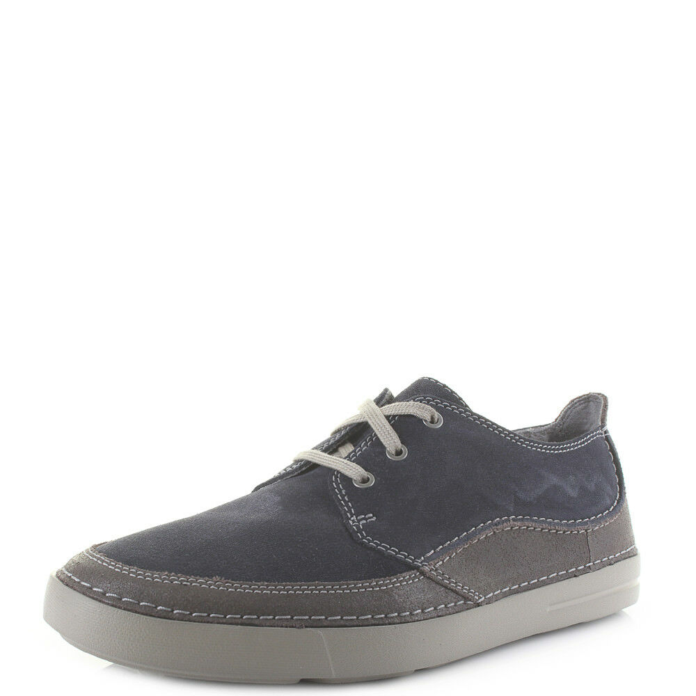 Uomo Clarks Gosler Up Edge Blau Suede Lace Up Gosler Casual Schuhes UK Größe a44889